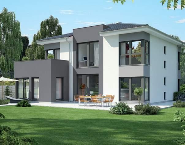 Okal Fertighaus Gebäudetypen 2 geschossiges Einfamilienhaus